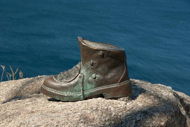 Bota de Bronze no caminho de santiago de compostela