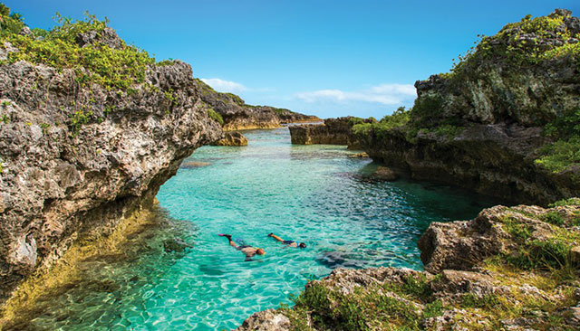 Muros de calcário em Niue