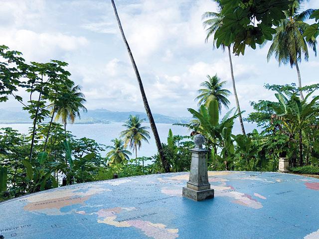 Ponto onde passa linha do Equador no país de São Tomé e Príncipe